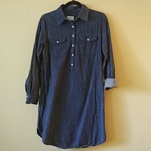 Womens Universal Thread Denim Button Shirt Dress